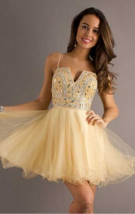 A-line Halter Sleeveless Tulle Cocktail Dresses With Beaded supplied by VioletDress at GBP94.99 are the best choice for you